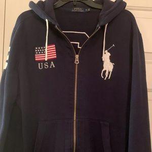 Ralph Lauren zip up sweatshirt men's size M
